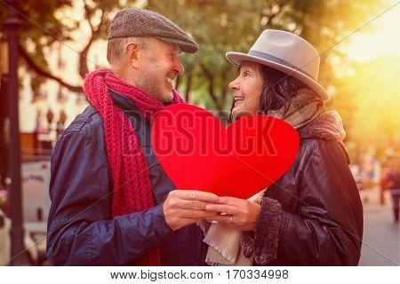 mature senior valentine trip in city