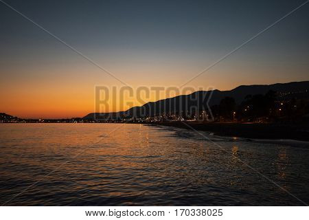 Alanya city, view from the beach, one of the famous destinations in Turkey