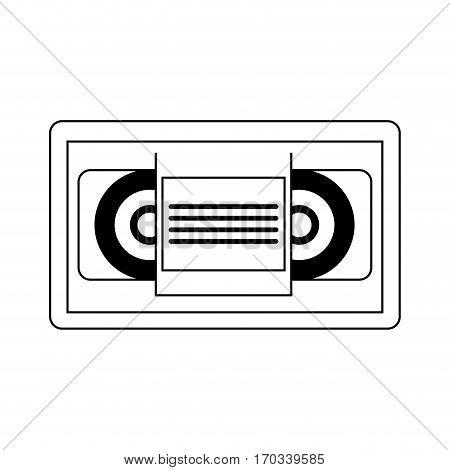 vhs tape icon over white background. vector illustration