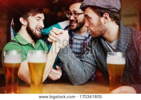 Strongman Contest in Irish Pub
