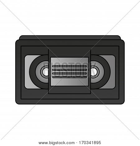 vhs tape icon over white background. vector illustration