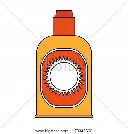 sunblock bottle icon over white background. vector illustration