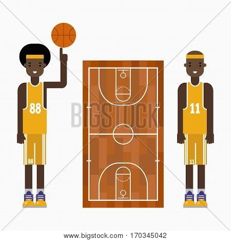 Basketball player team competition healthy character vector professional. Game competition ball team recreation. Athletic court champion concept equipment. Win tournament sport leisure.