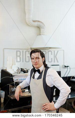 Elegant barista