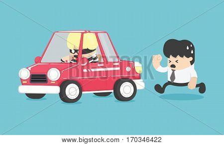 design Car theft illustration eps . 10