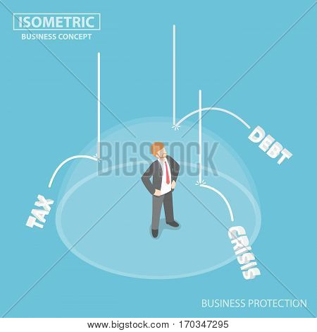 The Invisible Shield Protect Businessman From Business Risk Factors