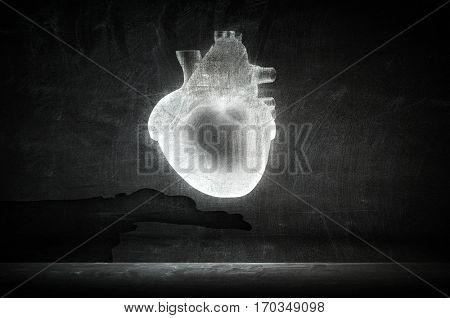 Cardiology and heart health . Mixed media