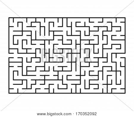 Vector labyrinth 85. Maze / Labyrinth with entry and exit.