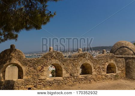 Row Of Embrasures In Fortezza Of Rethymno.