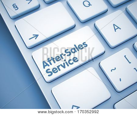 Online Service Concept: After-Sales Service on Modern Keyboard lying on the Toned Background. After-Sales Service Key on Keyboard Keys. with Toned Background. 3D Illustration.