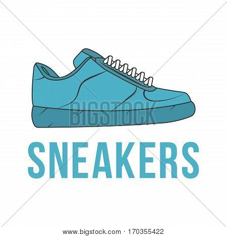 Icon sneakers. Vector isolated image of the shoe. The concept of street art. It can be used as prints, posters, printed materials, videos, mobile apps, web sites and print projects.