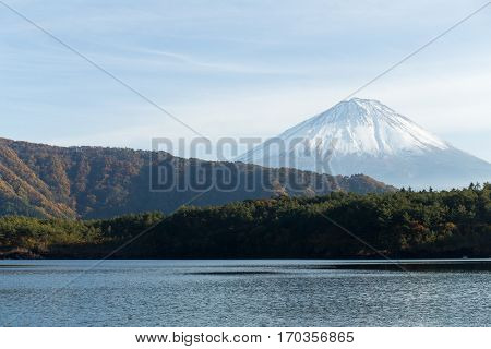 Lake saiko and Mount Fuji