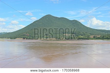 Mountains, rivers, sky at  Loei province in Thailand.