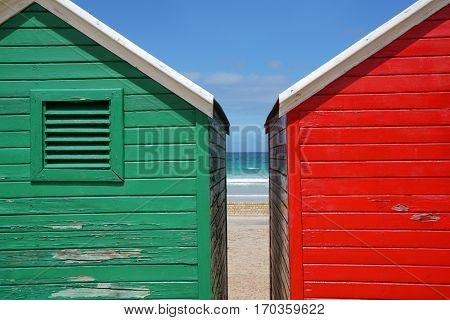 Fish Hoek beach huts