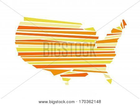 USA map vector illustration on white background