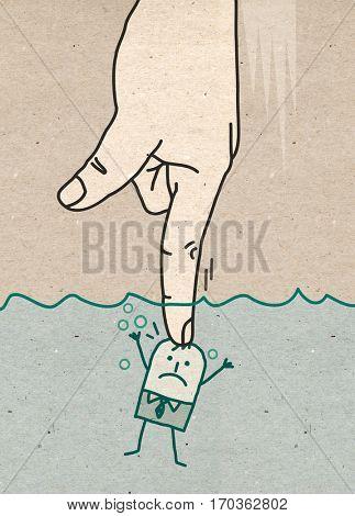 Big Hand - pushing under water