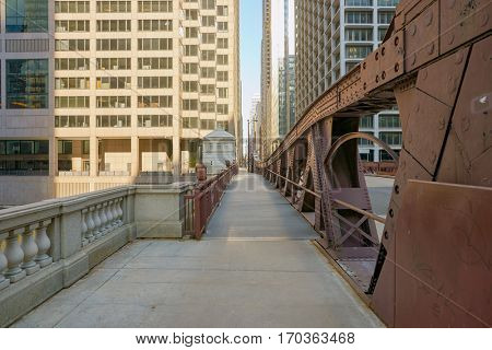 CHICAGO, USA - CIRCA APRIL, 2016: Chicago urban landscape at daytime. Chicago is the third-most populous city in the United States