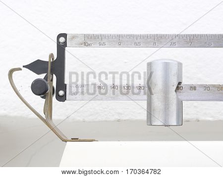 Medical scale close up