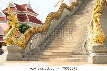Phaya Nak statuary are architecture adjacently Buddhism.