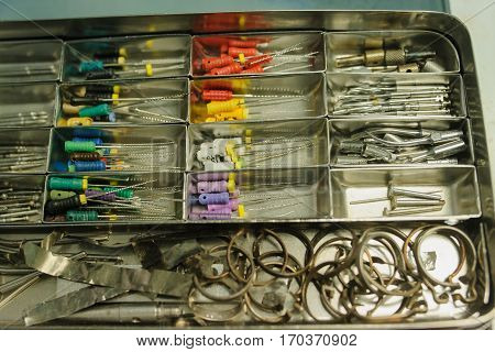 Close Up Dental Burs And Tools