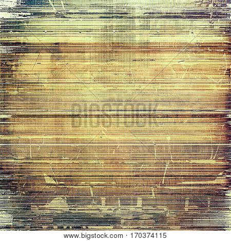 Retro style texture for your layouts. Grunge background with different color patterns: yellow (beige); brown; gray