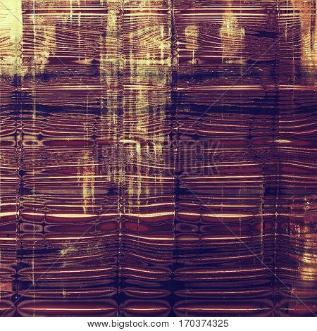 Vintage colorful textured background. Backdrop in grunge style with antique design elements and different color patterns: yellow (beige); brown; purple (violet); pink