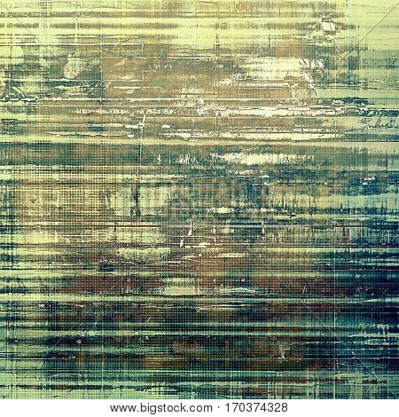 Highly detailed grunge background or scratched vintage texture. With different color patterns: yellow (beige); brown; green; gray; cyan; blue