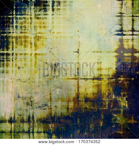 Vintage background - dirty ancient texture. Antique grunge backdrop with different color patterns: yellow (beige); brown; gray; blue; white; black
