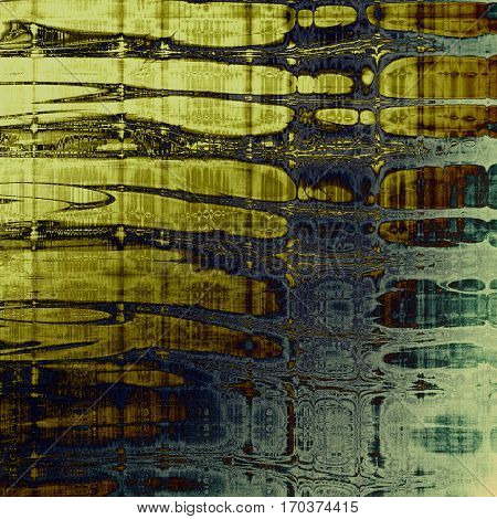 Old grunge vintage background or shabby texture with different color patterns: yellow (beige); brown; green; gray; blue