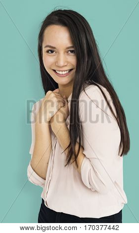 Young Women Smile Face Expression Concept