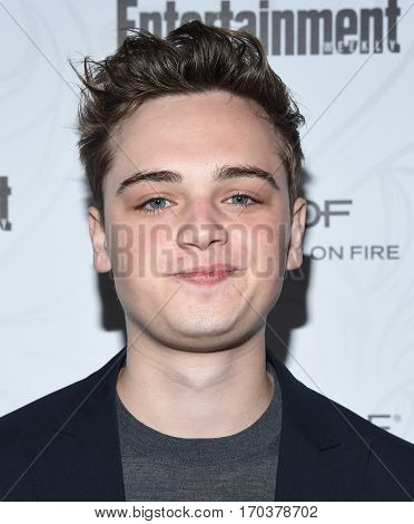 LOS ANGELES - JAN 28:  Dean-Charles Chapman {Object} arrives to the Entertainment Weekly Pre Sag Awards Celebration on January 28, 2017 in Hollywood, CA