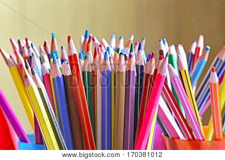 Many Pencils In Kindergarten Class Without Children