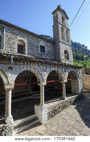 Berat, Albania - 24 June 2014: The church of St. Spiridione at Berat on Albania, Unesco world heritage