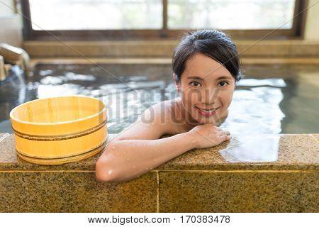 Woman enjoy her bath