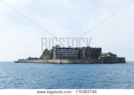 Battleship Island in Nagasaki city