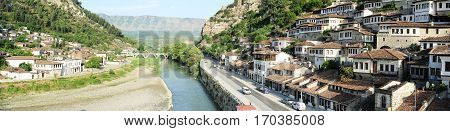 The old houses of Berat on Albania unesco world heritage