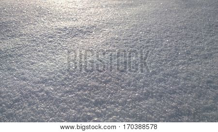 Structure of snow surface South Bohemia Czech republic