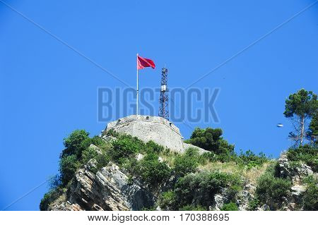 The fortless of Kala at Berat on Albania