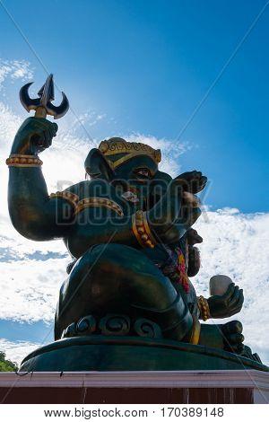 Ganesha statue and Hindu god Thailand.<process color>