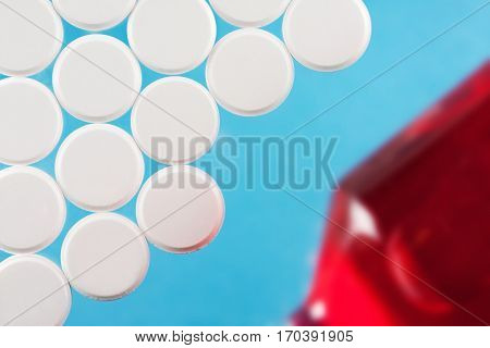Modern White Medical Pills On Medical Background