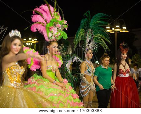 May 13 2013. Pattaya. Thailand. Transvestite show from Tiffany.