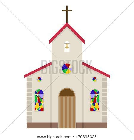 Church, Church of the icon. Flat design, vector illustration, vector.