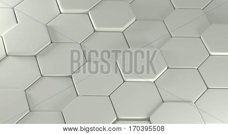 Abstraction consisting of plurality convex gray polygons