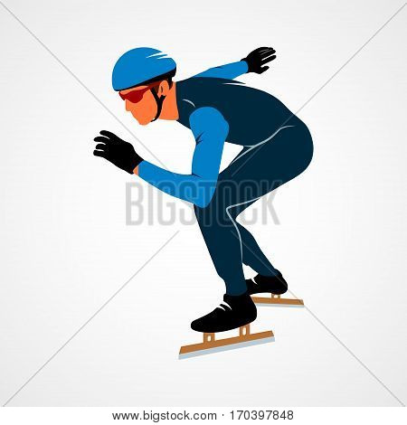 Male figure skating clipart