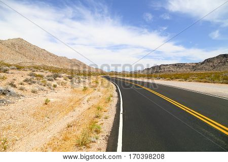 Valley of Fire State Park Road in Nevada, USA