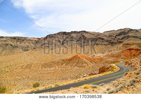 Valley of Fire Mountain Road in Nevada, USA
