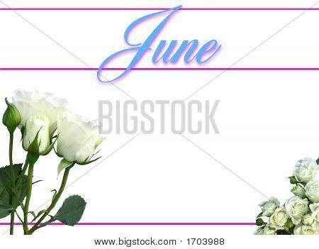 June Calendar On White Background