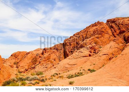 Rocks in the Valley of Fire State Park in Nevada, USA