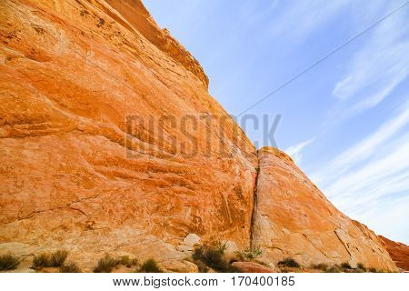 Cliff in the Valley of Fire State Park in Nevada, USA