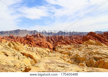 Valley of Fire State Park with the Fire Canyon in Nevada, USA